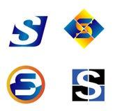 Abecadło symbole I elementy Listowy S, taki logo ilustracja wektor