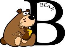 Abecadło zwierzęcy Niedźwiedź Obrazy Stock