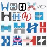 abecadłowy pojęć projekta listu logo Listowy H ilustracja wektor