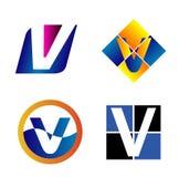 abecadłowy pojęć projekta listu logo literę v ilustracji
