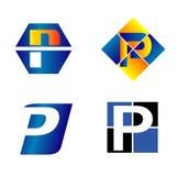 abecadłowy pojęć projekta listu logo litera p ilustracji