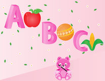 Abecadła dla dzieciaków ABC Zdjęcie Stock