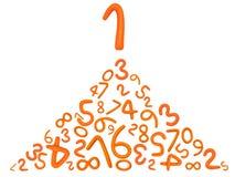 abecadła listów numerowa plastelina Obrazy Stock