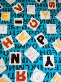 Abecadła na tkanina dywanu powierzchni Zdjęcie Royalty Free