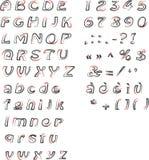 Abecadło liczby i interpunkcja, Fotografia Royalty Free