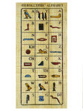 abecadłowy papirus Obraz Stock