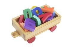 abecadeł fury zabawka drewniana obrazy stock