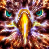 Abedabun - The Sea Eagle. Fractal neon wire flame fantasy art Royalty Free Illustration