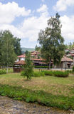 Abedul ruso en un parque en búlgaro Koprivshtitsa Fotos de archivo