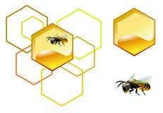 Abeille avec le nid d'abeilles illustration libre de droits