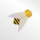 Abeille d'Origami Photo libre de droits