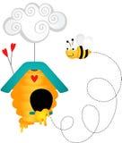 Abeille dans la ruche illustration libre de droits