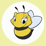 Abeille de bande dessinée Photos libres de droits