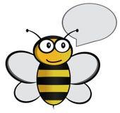 abeille de bande dessinée avec la bulle de la parole Images stock