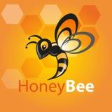 Abeille de miel de vol Images libres de droits