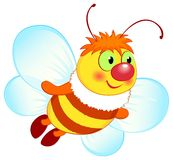 Abeille de vol illustration stock