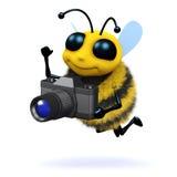 abeille du photographe 3d Photos stock