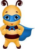 Abeille forte de super héros illustration libre de droits