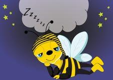 Abeille somnolente Image stock