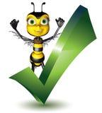 Abeille wright de miel Photos libres de droits