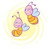 abeilles heureuses image stock