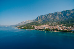 Abejón aéreo Makarska, Croacia de la foto Imagen de archivo