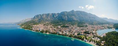 Abejón aéreo Makarska, Croacia de la foto Imágenes de archivo libres de regalías