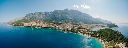 Abejón aéreo Makarska, Croacia de la foto Fotos de archivo