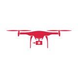 abejón Coloree el diseño plano rojo del vector con el fondo imagen de archivo libre de regalías