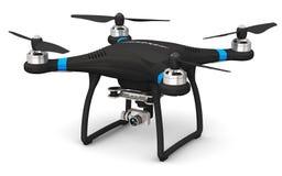 Abejón de Quadcopter con la cámara del vídeo 4K y de la foto Imagen de archivo libre de regalías