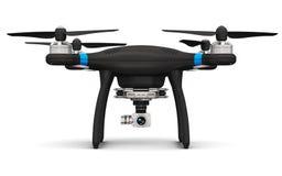 Abejón de Quadcopter con la cámara del vídeo 4K y de la foto Imágenes de archivo libres de regalías