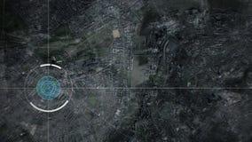 Abej?n de vigilancia o c?mara por sat?lite que explora Londres, Reino Unido ilustración del vector