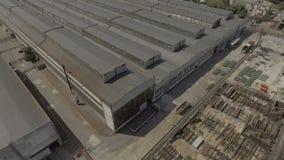 abejón Ingeniería de planta enorme del gremio Territorio industrial, visión superior metrajes