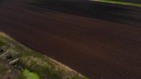 Abejón tirado de campos verdes fértiles almacen de metraje de vídeo