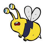 abeja asustada historieta cómica Fotografía de archivo