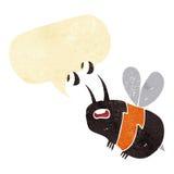 abeja asustada historieta con la burbuja del discurso Fotografía de archivo