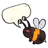 abeja asustada historieta con la burbuja del discurso Foto de archivo