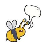 abeja asustada historieta con la burbuja del discurso Fotografía de archivo libre de regalías