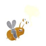 abeja asustada historieta con la burbuja del discurso Imágenes de archivo libres de regalías