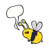 abeja asustada historieta con la burbuja del discurso Foto de archivo libre de regalías