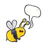 abeja asustada historieta con la burbuja del discurso Imagen de archivo