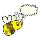 abeja de la historieta con la burbuja del discurso Foto de archivo libre de regalías