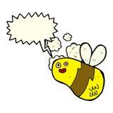 abeja de la historieta con la burbuja del discurso Fotografía de archivo