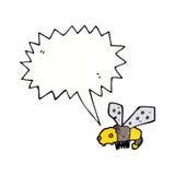 abeja de la historieta con la burbuja del discurso Fotografía de archivo libre de regalías