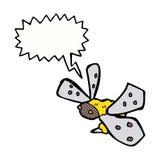 abeja de la historieta con la burbuja del discurso Fotos de archivo libres de regalías