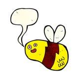 abeja de la historieta con la burbuja del discurso Fotos de archivo