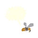 abeja de la historieta con la burbuja del discurso Imagen de archivo