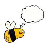 abeja de la historieta con la burbuja del pensamiento Imágenes de archivo libres de regalías