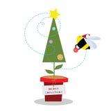 Abeja de la Navidad stock de ilustración