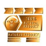 Abeja de oro del logotipo Imagen de archivo